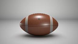American Football 3D Modell