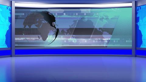 News TV Studio Set 96 - Virtual Background Loop Live Action