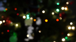 Abstract background with glitter bokeh from christmas bulbs Footage
