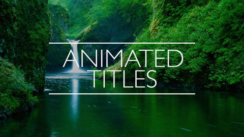 9 Clean and Elegant Animated Titles After Effects Template