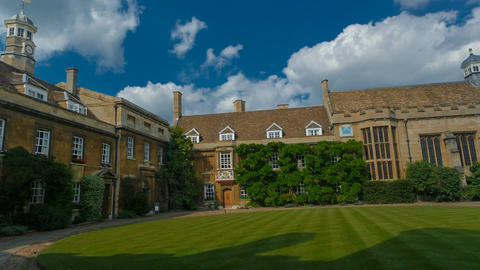 Christs College and University in Cambridge, England, UK Footage