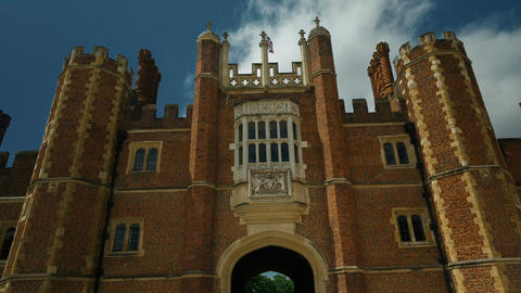 Hampton Court Palace with the Union Jack Footage