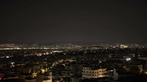 City by night - panoramic view ビデオ