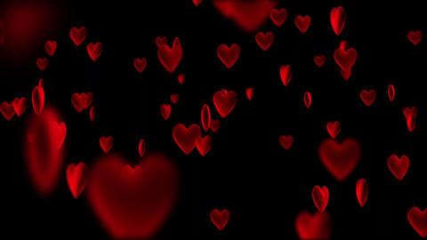 Hearts bokeh Animation
