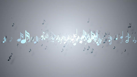 Slow motion of the musical notes with depth of field 4K, Stock Animation
