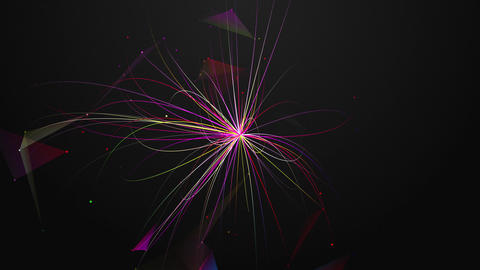 Abstract chaotic geometric composition from dots and lines Animation
