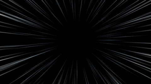 abstract scene of fly in space, wormhole or blackhole Animation