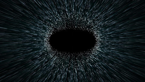 wormhole or black hole, abstract scene of fly in space Animation