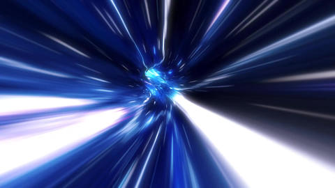 3D Blue Curved Loopable Space Interstellar Wormhole Background Animation Animation