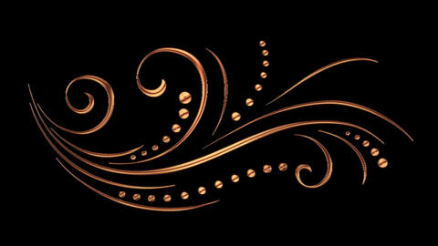 Animated Romantic Picturesque Copper Element with Alpha Channel 03 Animation