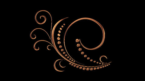 Animated Romantic Picturesque Copper Element with Alpha Channel 11 Animación