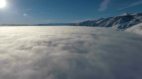 Flying Above The Clouds Footage