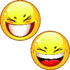Smiling, positive yellow smileys icons ベクター