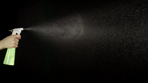 Spraying Water Slow Motion Archivo
