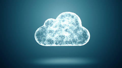 Cloud computing IT conception Animation