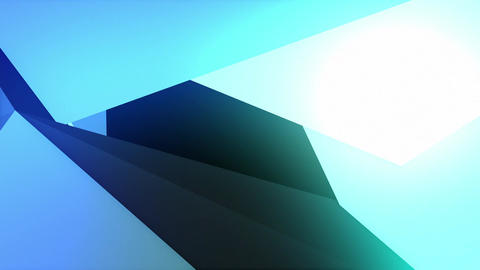 colorful abstract composition made from a huge three-dimensional objects 4K Animation