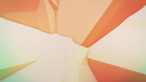 colorful abstract composition made from a huge three-dimensional objects 4K loop Animation