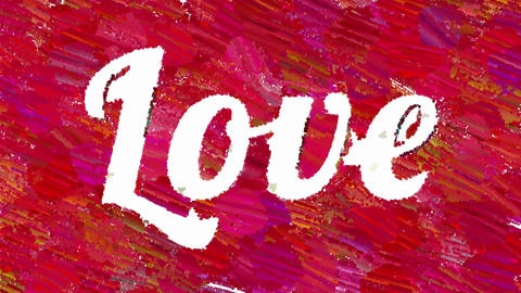 Word Love abstract artistic animation Animation