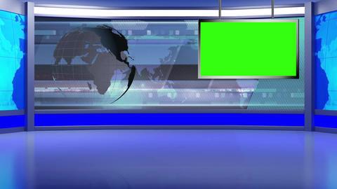 News TV Studio Set 97 - Virtual Background Loop Live Action