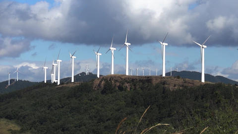 number of wind turbines located Number of wind turbines located on top of a wood Footage