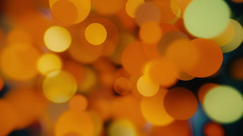 Abstract defocused glowing festive bokeh 4K Animation