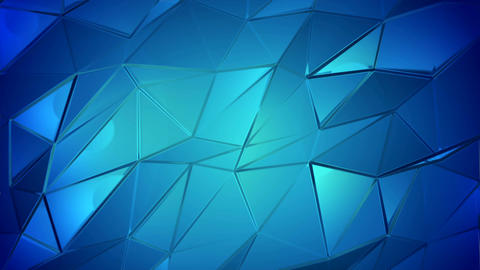 Blue crystals poly abstract animation background Animation