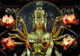Small shrine devoted to Avalokitesvara Boddhisatva. One Pillar p Fotografía