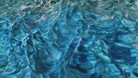 Digtal 3D Animation of violent Ocean Water Animation