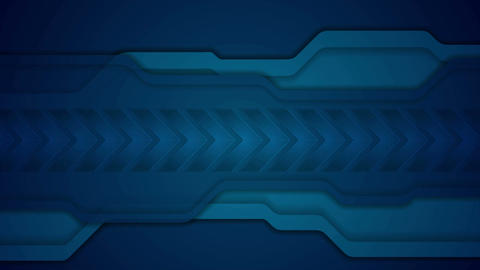 Abstract blue technology video animation with arrows Animation