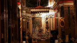 Interior of St. Paul's Cathedral or the Mdina Cathedral, a Roman Catholic cathed Image