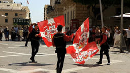 Valletta, Malta - June 25, 2017: Grand Parade in front of The Grand Master's P Footage