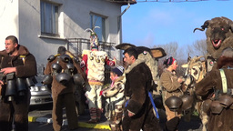 Bulgarian mummers gather for Surva ritual Footage