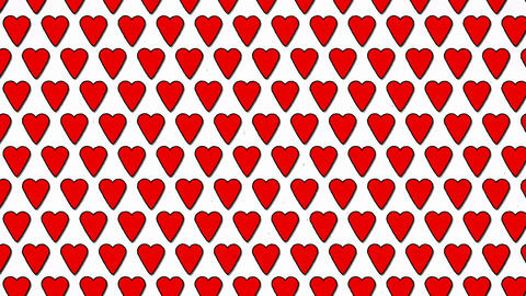 Red Hearts Love Valentine Animated Shape Background Animation