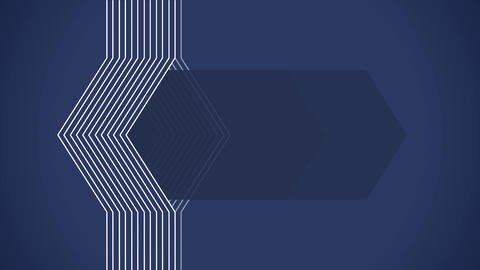Geometrical lines flat animation with blue solid Animation