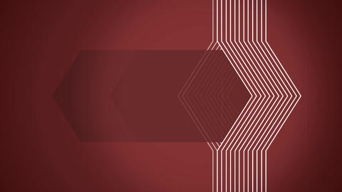Geometrical lines flat animation with red solid Animation