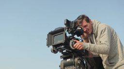 The Cameraman On The Film (close-up) stock footage