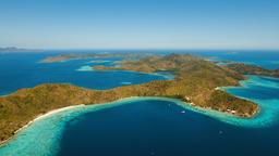 Aerial view tropical lagoon,sea, beach. Tropical island. Coron, Palawan, Philipp Footage