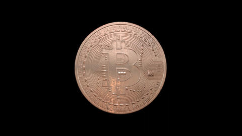 Bitcoin - cryptography digital currency coin Animation