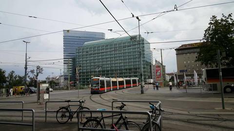 Tram System in Vienna, Austria, Europe Footage
