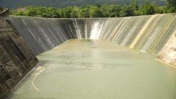 Dam on the lake, Bohol, Philippines Footage