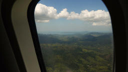 View from an airplane window on the ocean Footage