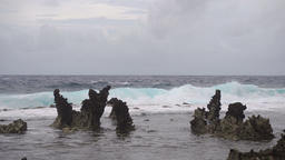 Rocky beach on a tropical island. Philippines,Siargao Footage