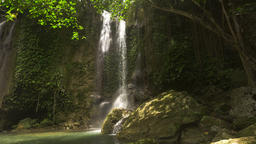 Beautiful tropical waterfall. Philippines Bohol island Footage