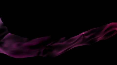 Magenta of silk flow (with alpha channel) Animation