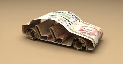 Car Finance with Indian Rupee Animation