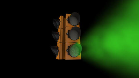 Traffic Lights VJ Loop Disco Footage Animation