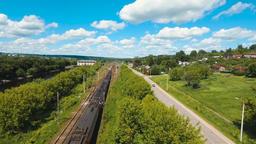 Train on the railway ビデオ