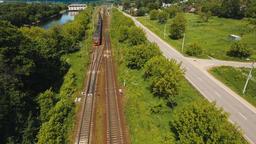 Train on the railway Footage