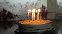 Birthday cake with candles Filmmaterial