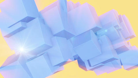 abstract cubes in rotation- animation Animation